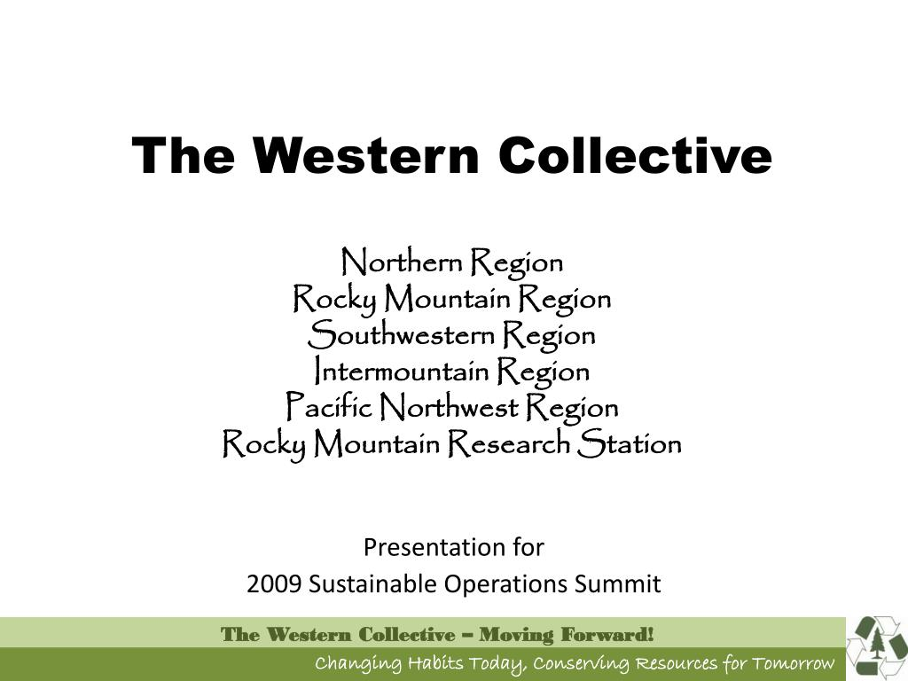 presentation for 2009 sustainable operations summit l.