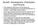 growth development distribution and poverty