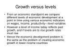 growth versus levels