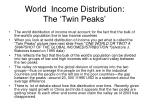 world income distribution the twin peaks