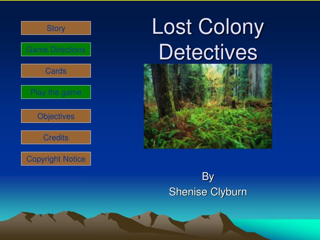 lost colony detectives l.