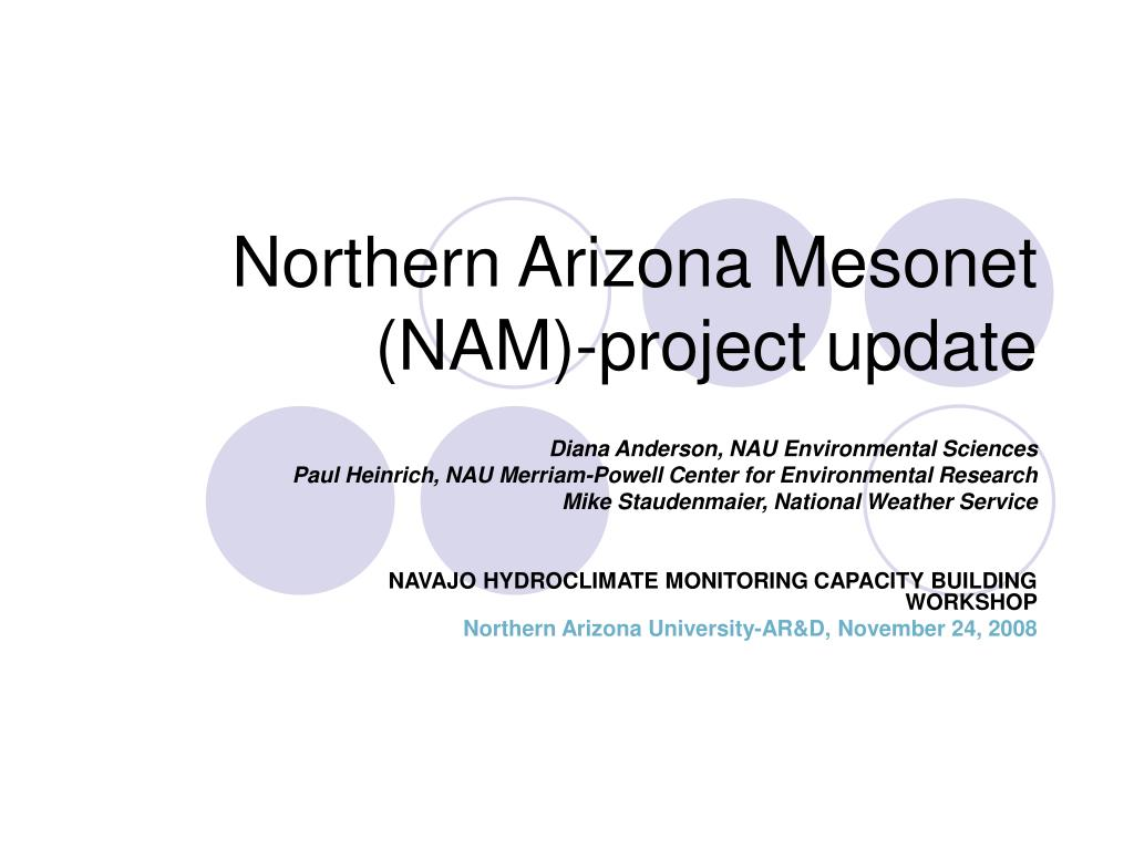 northern arizona mesonet nam project update l.