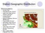 station geographic distribution
