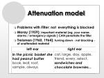 attenuation model