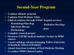 second year program