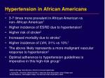 hypertension in african americans