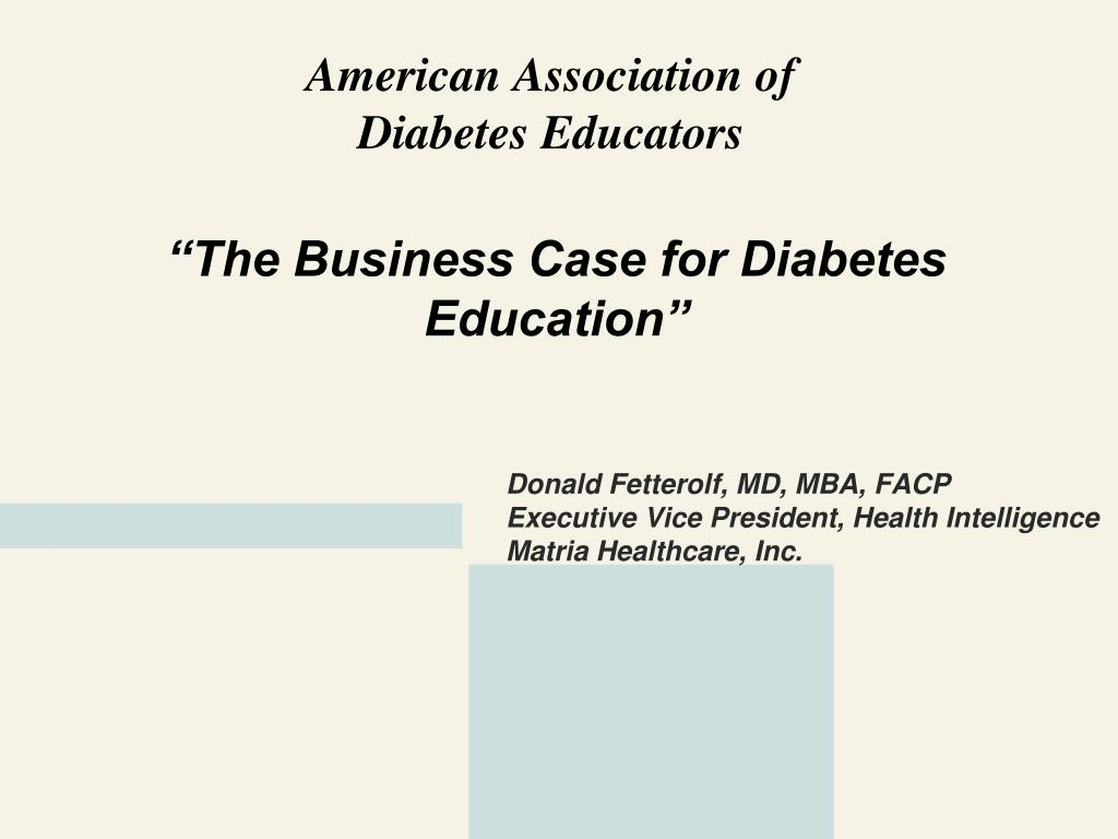 """""""The Business Case for Diabetes Education"""""""