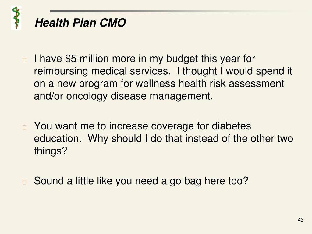 Health Plan CMO