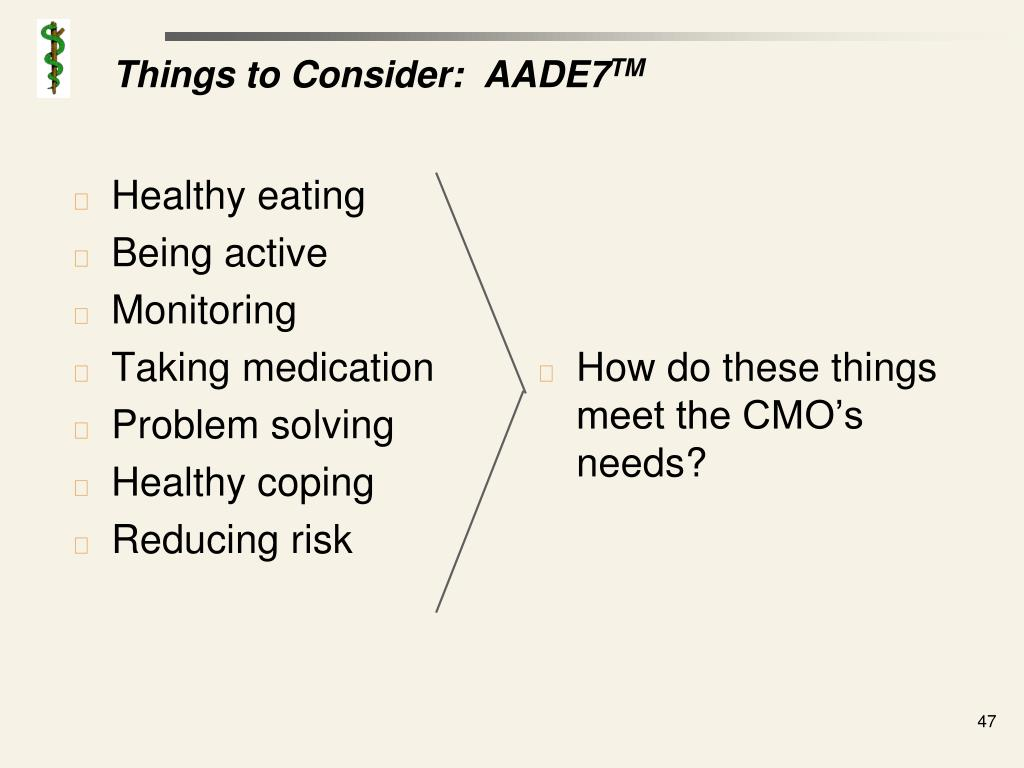Things to Consider:  AADE7