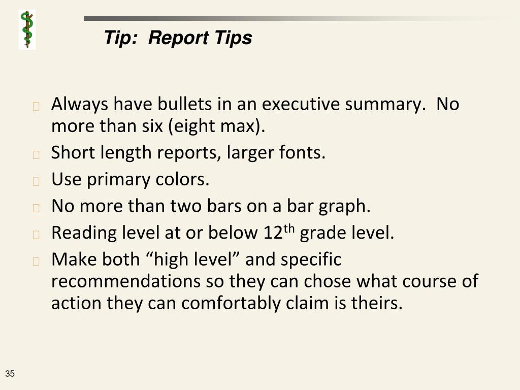 Tip:  Report Tips