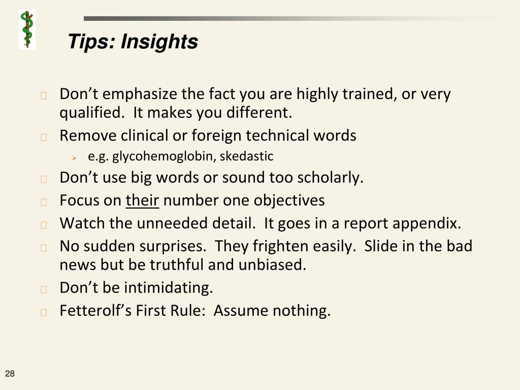Tips: Insights