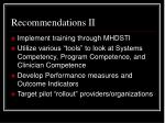 recommendations ii