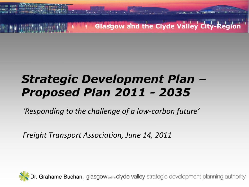 strategic development plan proposed plan 2011 2035 l.