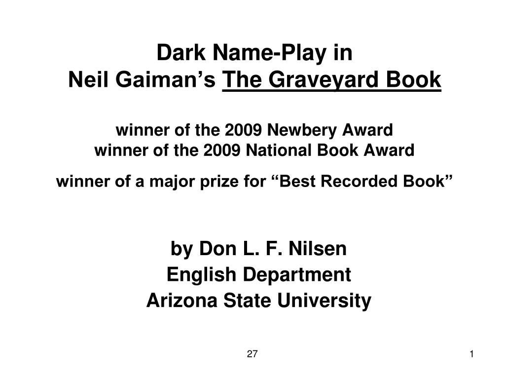 by don l f nilsen english department arizona state university l.