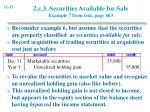 2 c 3 securities available for sale example 7 from text page 603