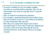 2 c 3 securities available for sale