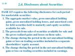 2 d disclosure about securities