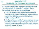 appendix 11 2 accounting for corporate acquisitions