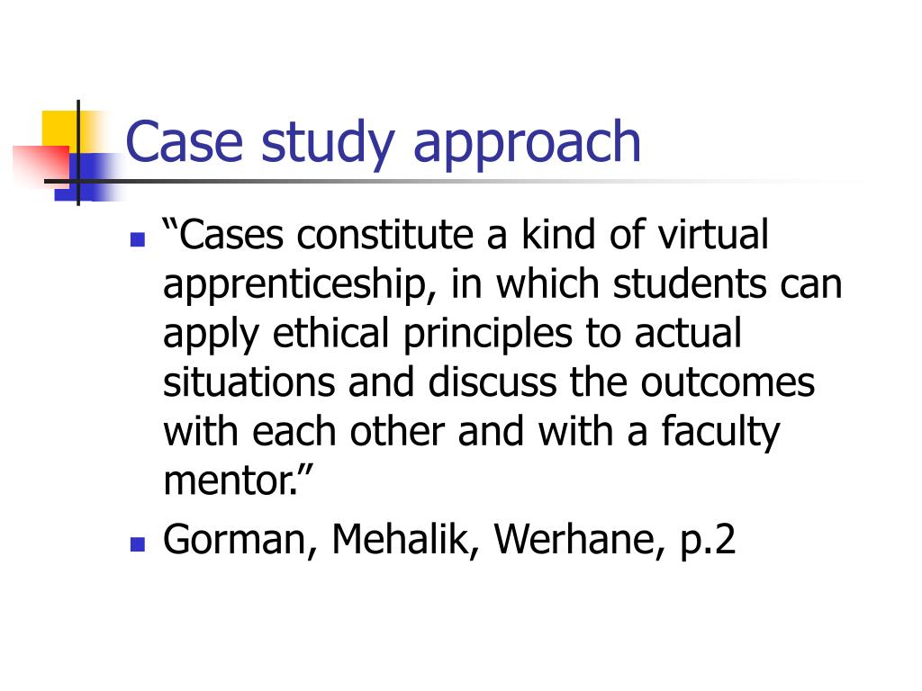 work ethics case study