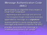 message authentication code mac