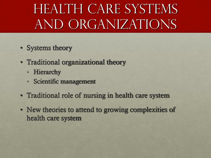 scientific management theory in nursing