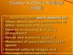 coakley white s findings 1999