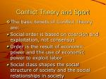 conflict theory and sport