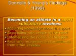 donnelly young s findings 1999