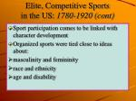elite competitive sports in the us 1780 1920 cont