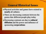 general historical issues