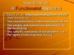 socialization a functionalist approach