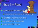 step 3 read