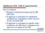 additional vha 1200 5 requirements