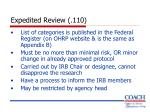 expedited review 110