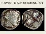 c 430 bc 23 x 27 mm diameter 16 5g