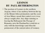 lemnos by paul hetherington