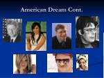 american dream cont