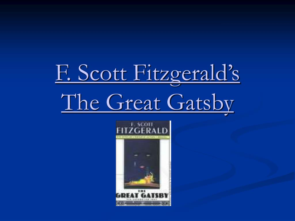 f scott fitzgerald s the great gatsby l.