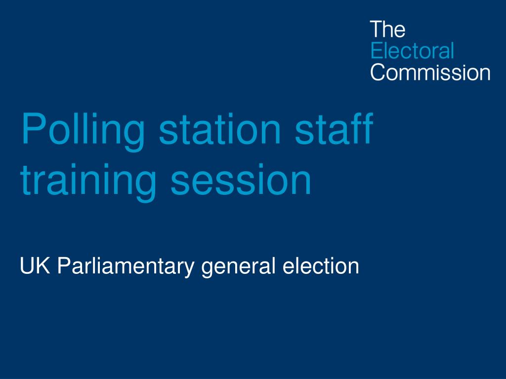 polling station staff training session l.