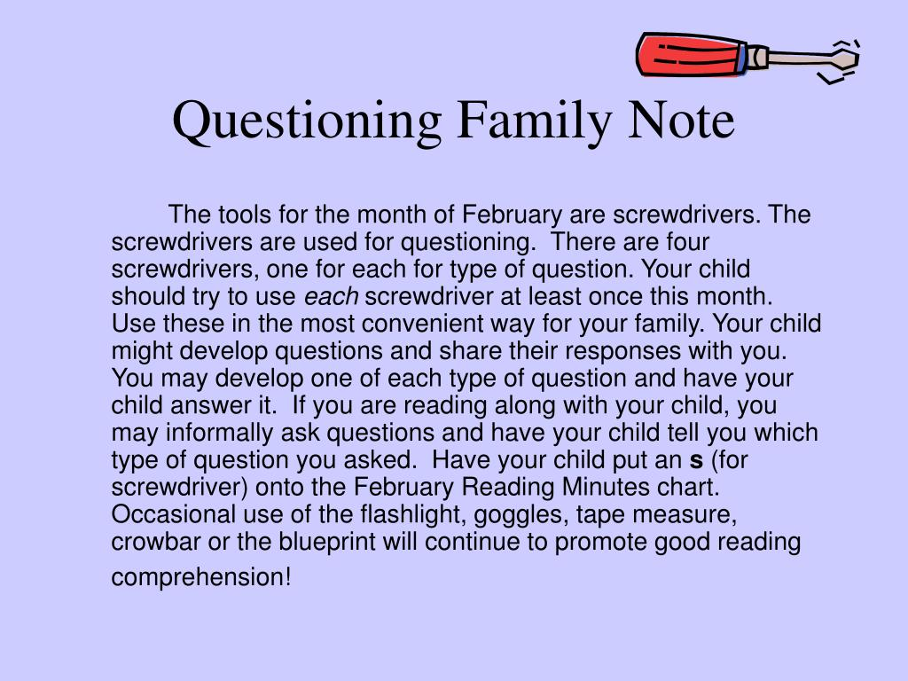 Questioning Family Note