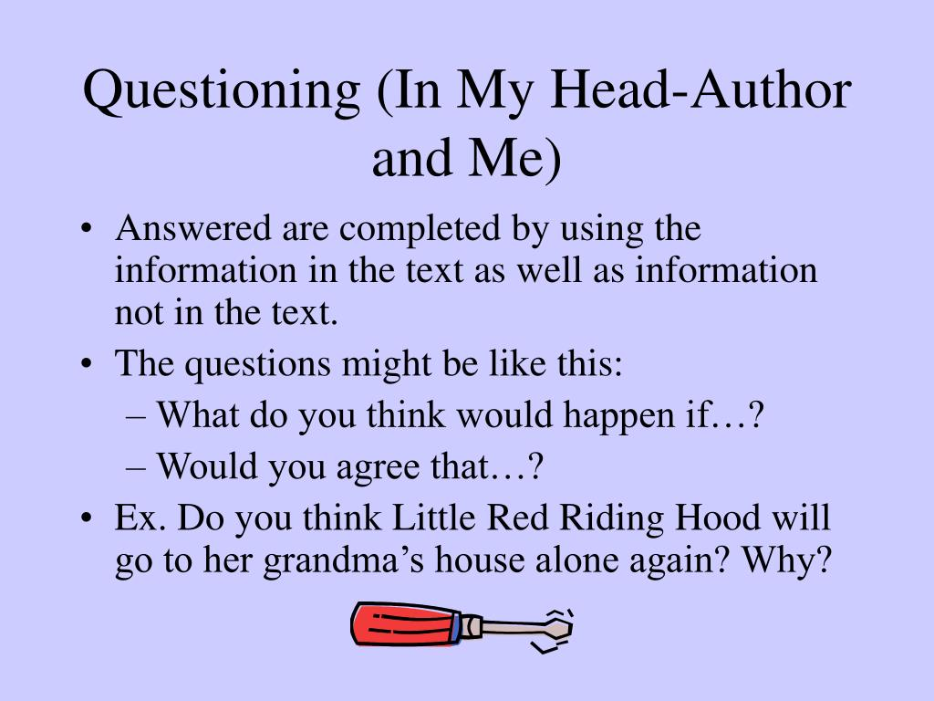 Questioning (In My Head-Author and Me)