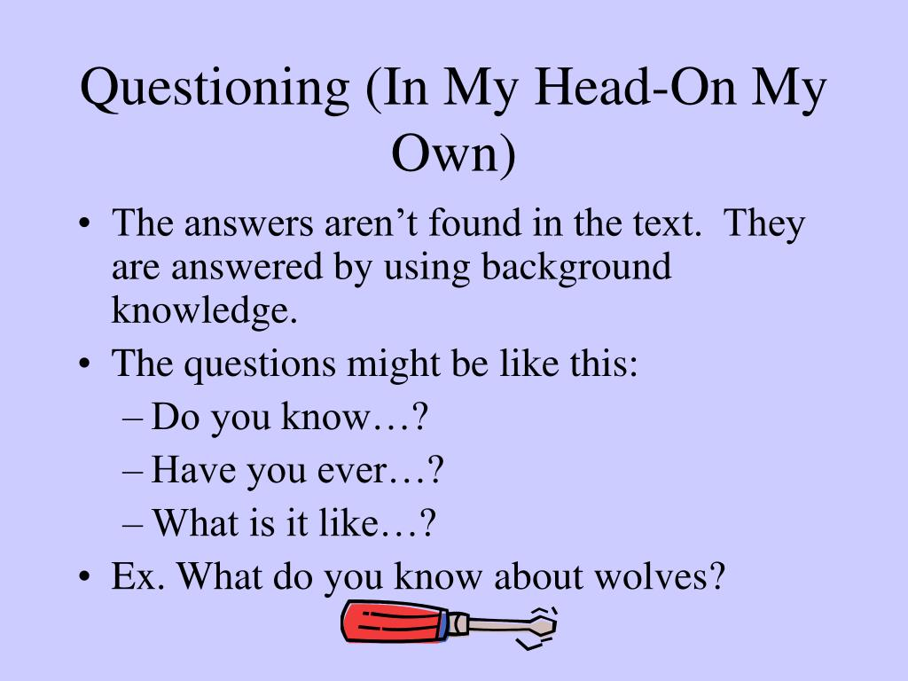 Questioning (In My Head-On My Own)