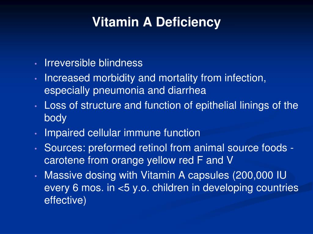Vitamin A Deficiency
