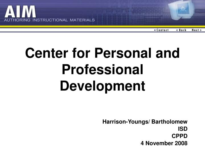 center for personal and professional development n.