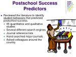 postschool success predictors