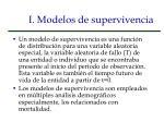 i modelos de supervivencia