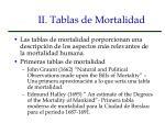 ii tablas de mortalidad