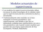 modelos actuariales de supervivencia