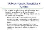 sobrevivencia beneficios y costos