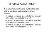 q mass action ratio